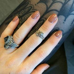 Small rose midi or pinky ring